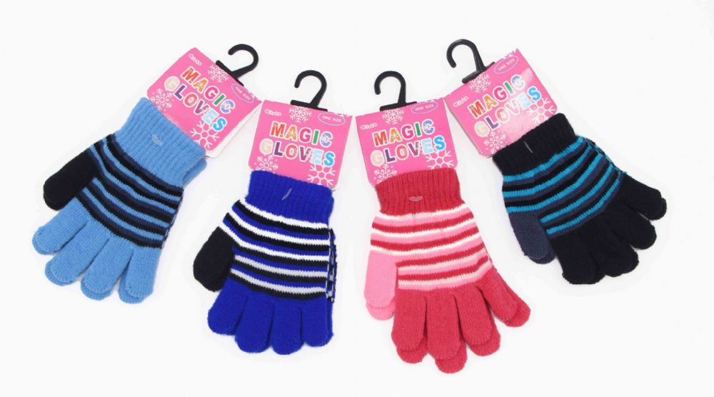 Girls funky magic gloves winter thermal gloves GL700587
